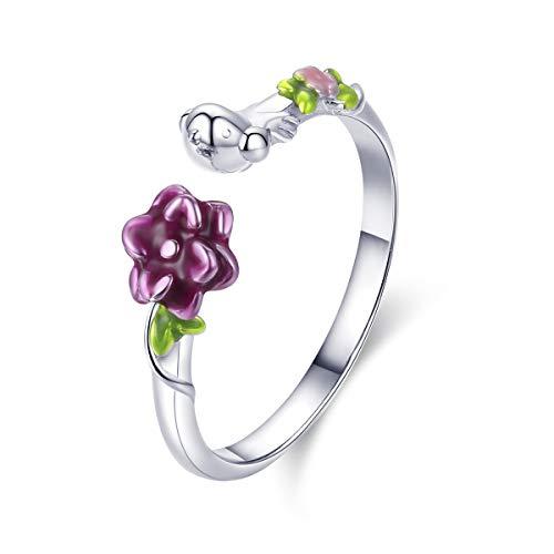 XJYA S925 Sterling Silber Ring Waldgeschichte Öffnung für Frauen-Ring ()