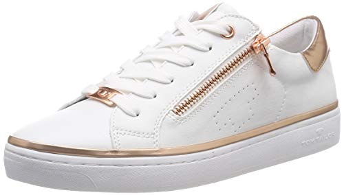 TOM TAILOR Damen 6992603 Sneaker Weiß (White 00002) 39 EU