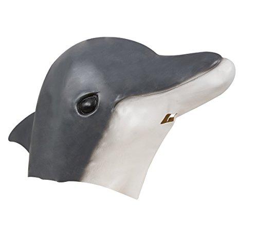 Clown Maske Für Erwachsene (P 'tit Clown 41072Maske Erwachsene Latex Integralhelm Delfin, Einheitsgröße)