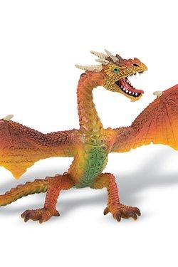 Bullyland Fantasy Figur Drache fliegend (orange) 16 cm