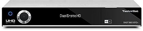 TechniSat DIGIT ISIO STC+, Sat-Receiver mit 3x Twin-Tuner für Empfang in HD und UHD / 4K, mit WLAN, CI+, HDMI, USB 3.0, Ethernet und Timeshift-Funktion (Farbe: