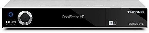 TechniSat DIGIT ISIO STC+ / Digital-Kombi-Receiver mit dreifachem Twin-Tuner für Empfang in HD und UHD - 4K, mit WLAN, Ethernet und Timeshift-Funktion, inkl. HD+ Smartcard, silber