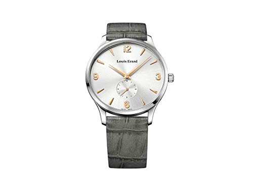 Louis Erard 1931 Automatic Watch, Silver, Grey Leather Strap, 47217AA11.BEP02