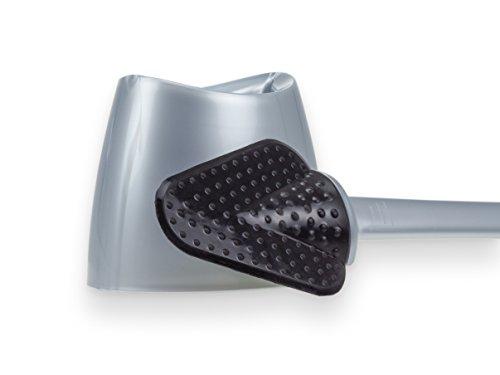 WcWunder antibakterielle WC-Reingungs-Bürste ohne Borsten, BASIS silber
