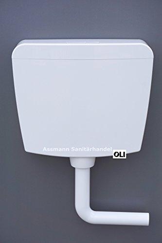 Preisvergleich Produktbild OLI Aufputzspülkasten 2-Mengen Spülung weiß AP Aufputz Spülkasten