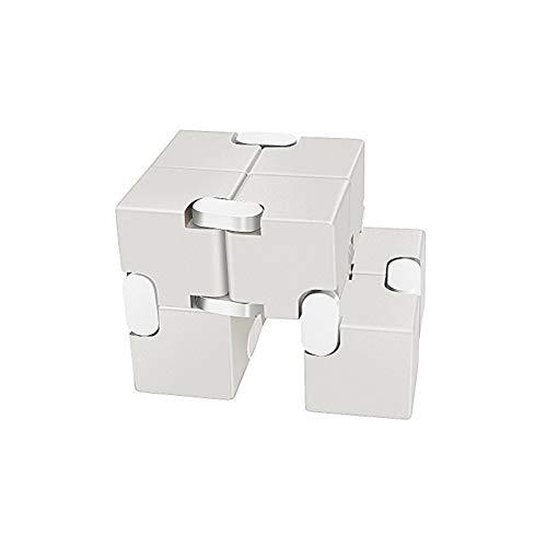 nfinity-Cube haltbarer Aluminiumlegierung Dekompression spielt Druckabbau Lernspielzeug Stress Relief Spielzeug Spiele quadratischen Würfels für Erwachsene und Kinder ()