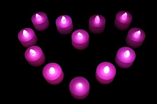 PK Green Día de San Valentín Rosa LED Tealight Sweet Recargable Velas