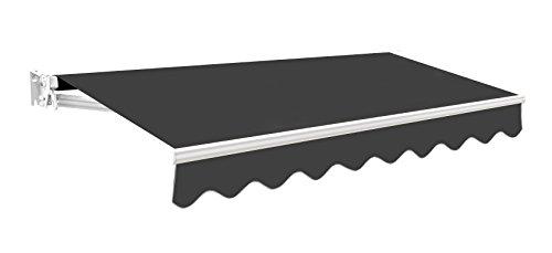 Primrose Kompaktes Markisenmodell - 300g/qm Polyester (2.5 x 2m, Anthrazit)