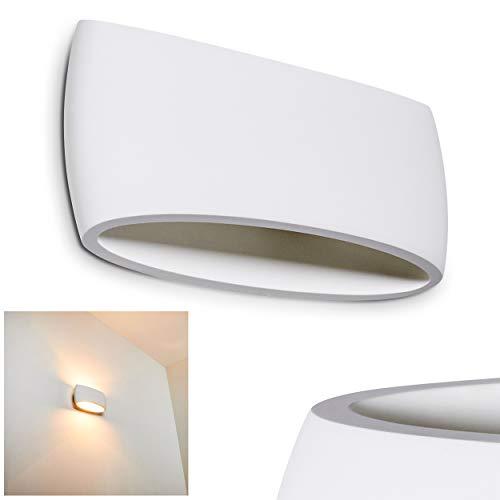 Applique murale BASSO Céramique Blanc-Applique Chambre allongée pour le salon-Chambre-Couloir-Cette lampe est avec des couleurs standard bemalbar