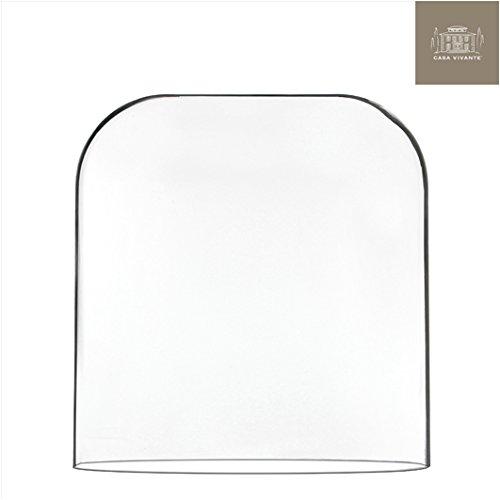 Große Glasglocke Deko oval (Glas-dome-vitrine)