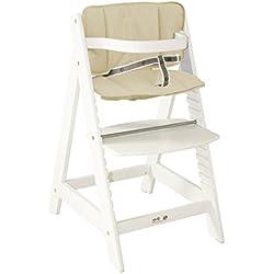 Roba Sit Up III - Trona infantil de madera (cojín incluido), color blanco