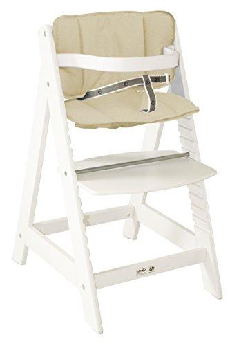 Roba-Sit-Up-III-Trona-infantil-de-madera-cojn-incluido-color-blanco
