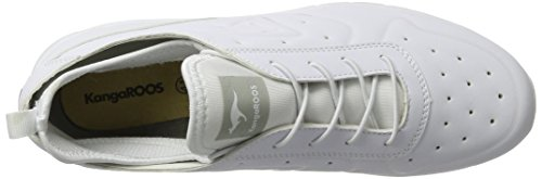 Kangaroos  Oge, chaussons d'intérieur mixte adulte Weiß (all white)