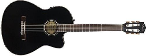 Fender cn-140sce, schwarz, Palisander Electro Klassische Nylon Gitarre & Hard - Akustische Nylon-gitarre Elektro