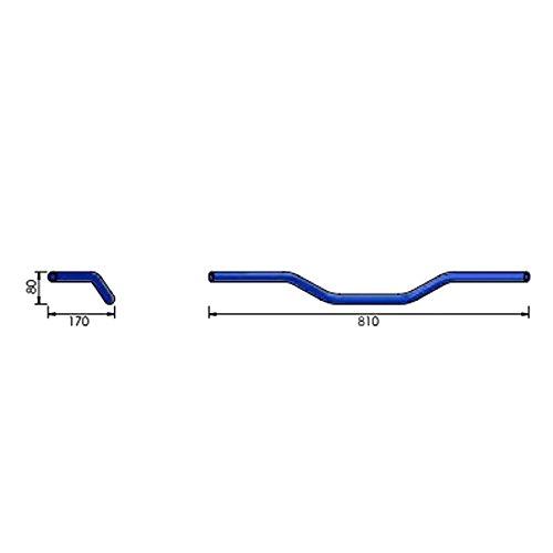 Manubrio acciaio cromato 1pollice Roadstar LSL