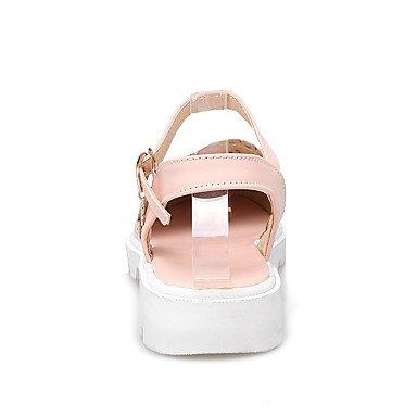 LvYuan Sandali-Tempo libero Formale Casual-Comoda Suole leggere-Piatto-PU (Poliuretano)-Blu Rosa Bianco Beige beige