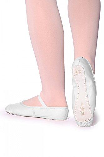 Roch Valley Ophelia Ballettschläppchen aus Leder mit Gummibänder 37 Weiß
