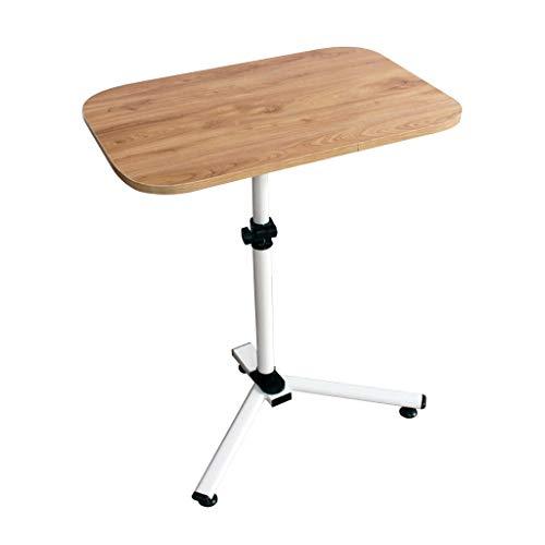 Eeayyygch vassoio per laptop regolabile in altezza in legno rettangolare regolabile supporto per computer rimovibile tavolo triangolare sollevabile tavolo per notebook materiale mdf scrivania