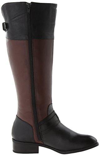Lauren Ralph Lauren Maritza Wide Calf Femmes Cuir Botte Black/dark Brown
