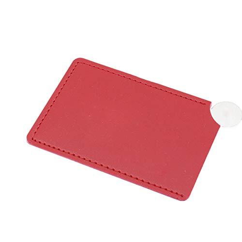 YUnnuopromi - Espejo de Maquillaje irrompible de Acero Inoxidable, Color Rojo