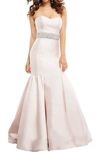 Gorgeous Bride Fashion Traegerlos Lang Meerjungfrau Satin Schleppe Abendkleider Ballkleider Festkleider Elfenbein