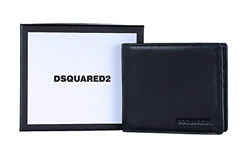 DSQUARED2 Men Dante Billfold Designer Leather Wallet - W16WA40080152124 - Dsquared Bifold Wallets For Men Made In Italy