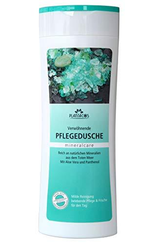 PLANTACOS - Pflegedusche mit Mineralien aus dem Toten Meer bei trockener Haut, Duschgel mit Aloe Vera und Panthenol 300 ml