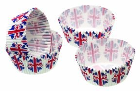 Sweetly Does It Mini Paper Cake Cases - Union Flag Pack of Eighty