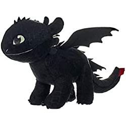DreamWorks 12433 Train Your Dragon - Peluche sin Dientes (32 cm), Color Negro