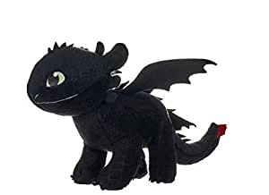 """Posh Paws 12433 How to Train Your Dragon 3"""" Toothless Soft Toy Dark Features-32cm, Glow"""