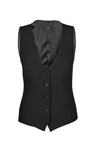 Greiff Damen-Weste, Regular Fit, 8222, schwarz, Größe 42