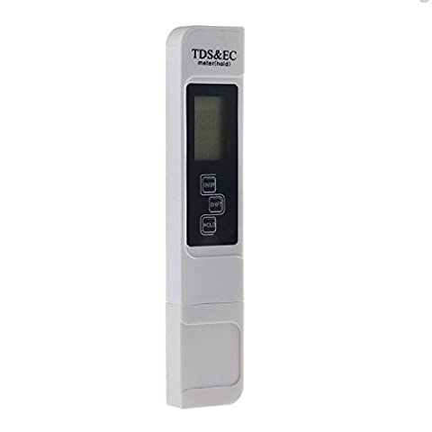 TDS-EC Meter Digital Water Quality TDS Tester Pen Stick PPM Filter +/- 2% Readout Accuracy Pocket Size with LCD Screen for Drinking Water Aquarium Swimming Pools Hydroponics Spa