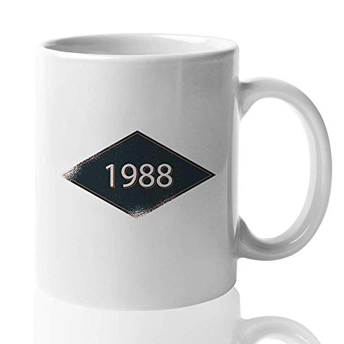 Birthday Number Coffee Mug - 1988 - Retro Design Old Fashioned Men Women 31st Birthday Dad Mom Brother Sister Husband Wife Best Friend 11 Oz - Brothers Old Fashioned
