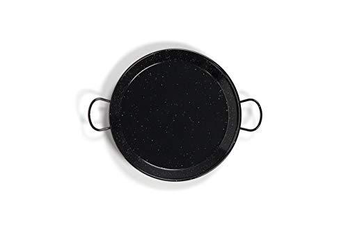 La Valenciana Paella de Acero esmaltado, Black_Parent, Negro, 42 cm