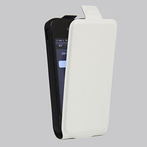 Owbb® PU Ledertasche oberen und unteren offenen im Bookstyle für iphone 4S Smartphone Case Cover Wallet Standfunktion mit Kartenfächer Bargeld Aussparrung-Pink Weiß