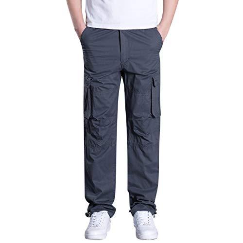 Herren Sommer Style Outdoor-Mehrfachtasche Overall Gerade Sporthose