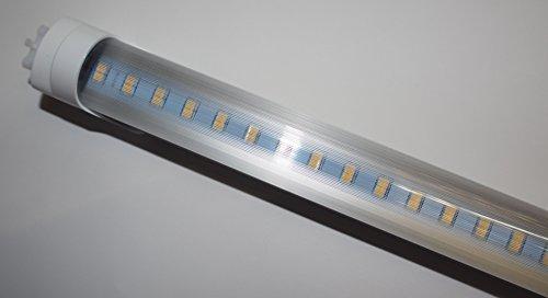LED Leuchtröhre [kein Starter nötig!] T8 Länge 43,5 cm (435mm) Leistung 7W Lumen 90 0lm Lichtfarbe 3200K Farbreinheit CRI >80 Durchmesser 26mm Sockel G13-prisma