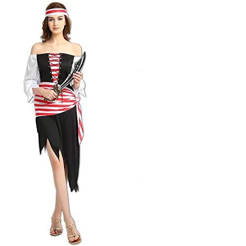 (thematys Piratin Piratenkostüm für Damen - perfekt für Fasching, Karneval & Halloween - Einheitsgröße 160-180cm)