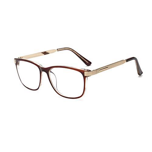 Juqilu Klare Linse Brillen Lesebrille Dekor Mode Geek/Nerd Retro Brillen für Männer Frauen - lu18082302