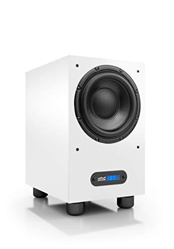 Nubert nuBox AW-443 Subwoofer | Lautsprecher für Bass & Effekte | Surround & Action auf hohem Niveau | Aktivsubwoofer-Technik | LFE-Box mit 220 Watt | Grenzfrequenz 29 Hz | Kompaktsubwoofer Weiß