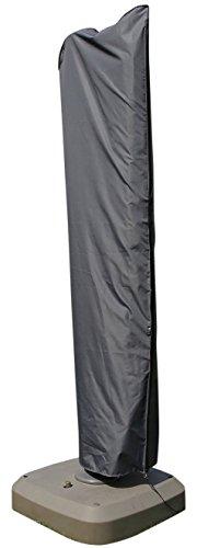 Schutzhülle / Abdeckung für Sonnenschirm / Terrassenschirm mit Seitenstange (Ø 300 - Ø 350, 300 x 300, 300 x 350 cm) | Grau | Wasserabweisend | SORARA | Polyester & PU Coating (UV 50+)| Premium | Abdeckhaube / Wettershutz | Regenfest | für Outdoor Garten Möbel