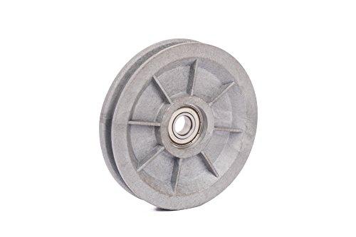 Seilrolle, Drahtseilrolle, Durchmesser Ø 90 mm, für Seile bis Ø 7 mm, silber Test