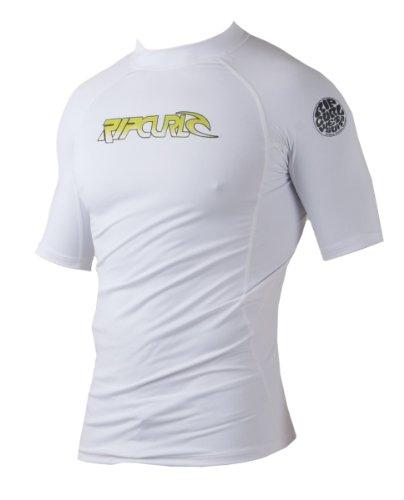 Rip Curl Herren 's Classic Short Sleeve Corp Lycra Rash Guard weiß