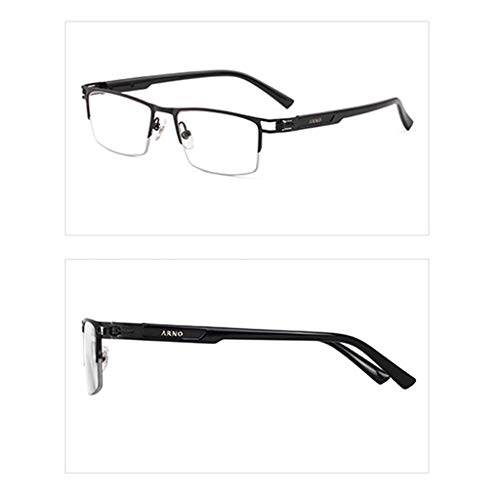 Axclg Reading glasses Lupe Anti-Blaulicht-Lesebrille, Ferne und nahe HD-Brillen mit doppeltem Verwendungszweck, Unisex-Leser mit halbem Rahmen (Gold, Schwarz, Grau)