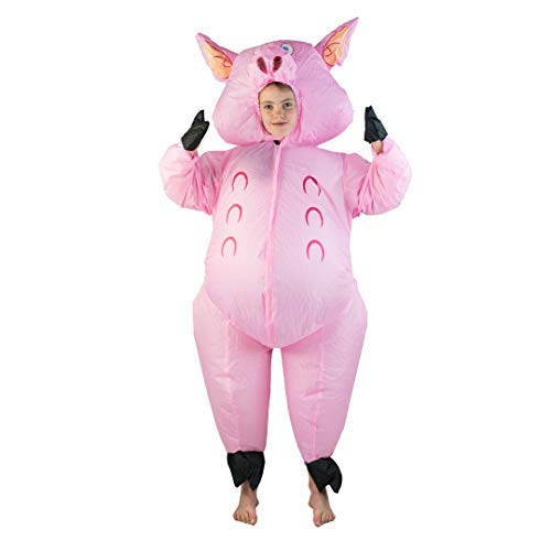 Bodysocks® Aufblasbares Schwein Kostüm für Kinder (Kinder Schwein Halloween Kostüm)