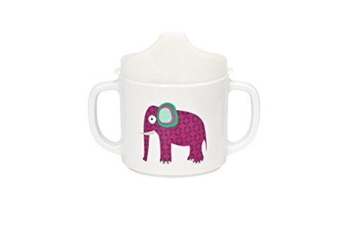 Lässig Dish Cup Melamin Tasse Trinkbecher mit Henkel Schnabeltasse aus 100{7067d3182d22493d1278bd4abd2b26bedb61ba24c41f3995ac0caa4b5762fb73} Melamin BPA-frei und rutschfest, Wildlife Elephant