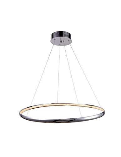 KosiLight - Hängender LED Chromring 80 cm - Saturne - Silber/Chrom - 1800 lm - Metall und Aluminium - IP20 - A -