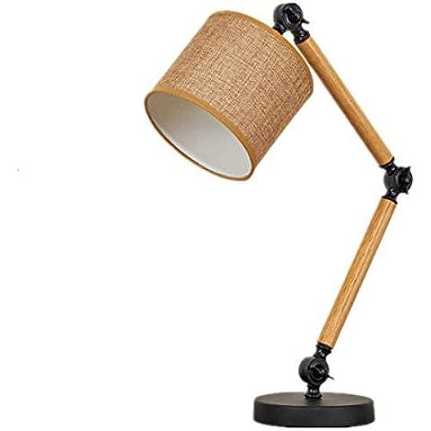 E27braccioli regolabili apprendimento lampada in legno moderno