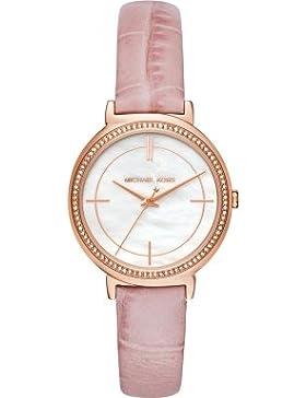 Michael Kors MK2663 Uhr Damenuhr Lederarmband vergoldet 5 bar Analog Rosa