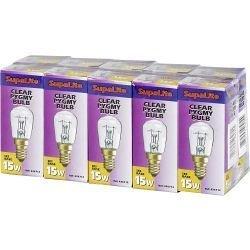 SupaLite Boîte de 10 ampoules pygmées SES Claire 15 W